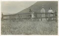 Two sorrowful women (sctatepdx) Tags: newyork cemetery graveyard fence tombstone snapshot vernacular 1915 oldcemetery oldsnapshot samueltaylor vintagesnapshot northhornell