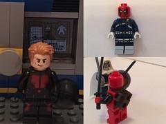 Hank pym and deadpool (Letgoofmylego) Tags: comics movie lego minifig custom hank marvel yellowjacket taskmaster pym antman giantman deadpool