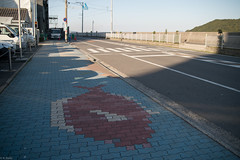 pavement of red snapper (kasa51) Tags: road street japan port harbor pavement sidewalk redsnapper tomonoura 鞆の浦 舗装 鯛の歩道