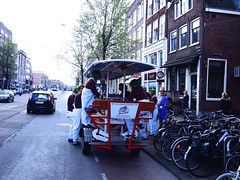(amsfrank) Tags: people amsterdam spring candid tourists beerbike toeristen bierfiets