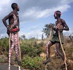 Stilts, Banna Tribe, Ethiopia (Rod Waddington) Tags: africa african traditional culture valle tribal valley afrika omovalley ethiopia tribe ethnic stilts cultural ethnicity afrique ethiopian omo banna etiopia ethiopie etiopian