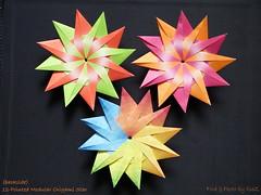 12 – Pointed Modular Star backside (Nr.5)  by Maria Sinayskaya (esli24) Tags: origami origamistar papierfalten mariasinayskaya origamistern esli24 ilsez 12pointedmodularorigamistar