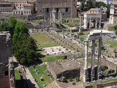 20160425 100 Roma - Foro Romano - Lapis Niger - View from Palatino