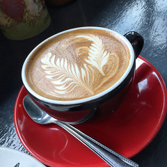 Flat white coffee time at 3Lives in Cremorne