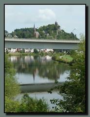 Saarburg (Rheinland-Pfalz / Deutschland) (p_jp55 (Jean-Paul)) Tags: bridge panorama reflection river germany deutschland rivire reflet pont brcke fluss allemagne spiegelung saar rheinlandpfalz saarburg sarre laurentiusbrcke