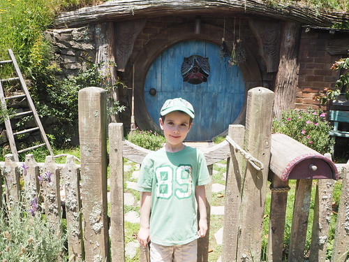 Jasper Outside A Hobbit Hole