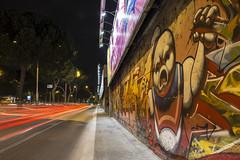 Roma - Cristoforo Colombo (6) (Yksel85) Tags: street light red urban streetart roma art night graffiti graphics nikon metro ghost banksy bynight murales affreschi fantasma luce colombo lazio citt ghostbuster bansky scia cristoforocolombo tormarancia lungheesposizioni