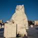 Escultura de neve compactada