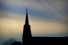 Divine Light (imageClear) Tags: light sky color church beauty silhouette wisconsin landscape evening aperture nikon flickr cross divine spire filter sheboygan photostream churchspire d600 200mmf4 imageclear picmonkeycom