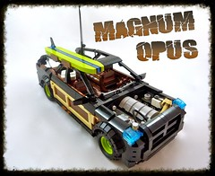 "Dodge ""Magnum Opus"" (Lino M) Tags: 2005 wood brown fish black green beach car station modern wagon boat fishing sand rat surf panel lego board nuts woody 2006 surfing smell surfboard dodge rod cooler hemi lime nets 2008 martins lino v8 opus magnum 2007 lug beachcomber"