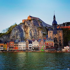 Dinant #dinant #architecture #citadelle #city #river (Ben Heine) Tags: square squareformat mayfair iphoneography instagramapp uploaded:by=instagram