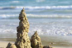 Sand sculpture (Jan van der Wolf) Tags: sea seascape beach water field seaside sand surf waves dof zee depthoffield shore depth branding zand kust scherptediepte map128353v