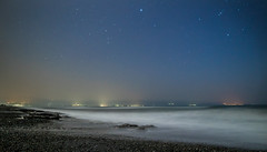 Akdeniz Beach in Cyprus (mr.akkanat) Tags: longexposure sea nature stars star amazing cyprus coastal astrophotography starry astrophoto