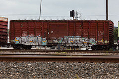(o texano) Tags: bench graffiti texas houston trains mich mf sws vash freights gy benching