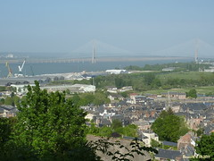 Le Pont de Normandie , Par dessus les toits (Barnie76@ ,) Tags: mer normandie honfleur paysage calvados toits hauteur pontdenormandie panasonictz7