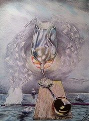 Don't do it (arthur.gabrielyan) Tags: ocean sky woman sun man art love birds ego painting boat triangle waves drink drawing secret surreal brush harmony hate painter zipper balance wineglass funnel selfishness