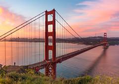 Sunrise at the Golden Gate (pixelmama) Tags: sanfrancisco california sunrise explore goldengatebridge marinheadlands thehumanelement chasinglight pixelmama tinypeopleinbigplaces