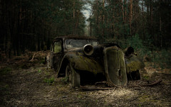I have been bent and broken, but - I hope - into a better shape. (Fragile Decay) Tags: abandoned broken nature car forest woods decay citroen forbidden forgotten shape fragile