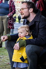 Audience (redrospective) Tags: people music london girl yellow festival musicians glasses concert toddler child audience gig fans raincoat 2016 april2016 20160423 unamplifirefestival