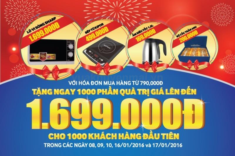 Tặng 1.000 phần quà giá trị mừng khai trương Trần Anh xứ Lạng