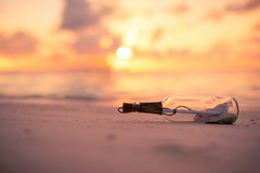 Cast Away (icemanphotos) Tags: sunset sea gold sand bokeh wave shore maldives magical luxury