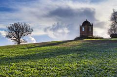 Folly In a Field (nicklucas2) Tags: cloud tree green field landscape folly