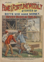 """Seven bags of gold, or, How a plucky boy got rich"" in Fame and fortune weekly, no. 243 (niudigitallibrary) Tags: gold investigation sleepwalking larceny dimenovels popularliterature franktousey fameandfortuneweekly northernillinoisuniversitydigitallibrary"