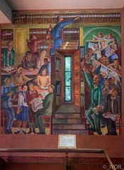 Library (_ Ivor_) Tags: sanfrancisco california panorama art mural tokina coittower fresco pwap bernardzakheim d7200 nikond7200 lightroom6 tokina1120 tokina110200mmf28
