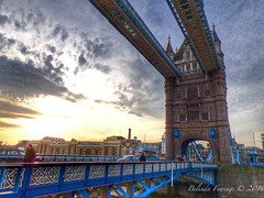 Tower Bridge (Belinda Fewings (2.5 million views. Thank You)) Tags: street city blue sun colour building london beautiful beauty sunshine weather architecture towerbridge out outside outdoors arty artistic bokeh creative engineering colourful lovely londoncity the beautify panasoniclumixdmc pbwa creativeartphotograhy belindafewings