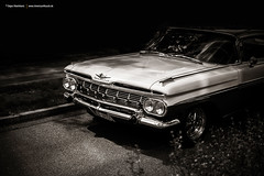 1959 Chevy (Dejan Marinkovic Photography) Tags: white black detail classic chevrolet car sepia air chevy chrome american 50s impala bel 1959