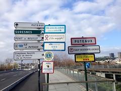 ville de puteaux, panneaux indicateurs, entre de ville (Grbert) Tags: panneaux puteaux hautsdeseine