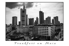 Skyline (Onascht) Tags: de deutschland hessen frankfurt wolken frankfurtammain zeil hochhaus wolkenkratzer schwarzweis heleba nikond5200