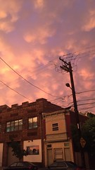 IMG_9122_2 (Brooke E. Walker) Tags: street pink building clouds wires telephonewires