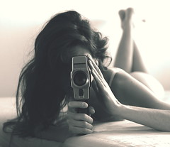 with lomo (TJB (Tereza Bursov)) Tags: camera old blackandwhite bw woman selfportrait girl beauty self nude mom lomo nikon indoor boudoir nudity bodies act intime uncovered d5200