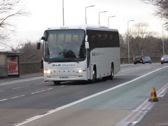 S5 YST (Cammies Transport Photography) Tags: road england bus scotland volvo coach edinburgh rugby v panther coaches specials s5 corstorphine yst plaxton dampe s5yst