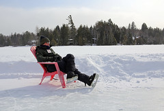 (Jean Arf) Tags: winter lake snow ice frozen chair mirrorlake iceskating skating kerry february adirondack adk lakeplacid 2015