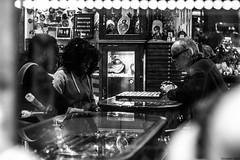 (Georgina ♡) Tags: blackandwhite window monochrome shopping store couple streetphotography jewelry antiques deciding