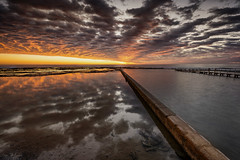 ...and Beyond (Crouchy69) Tags: ocean sea sky seascape reflection beach water pool clouds sunrise landscape dawn coast pier jetty sydney australia narrabeen