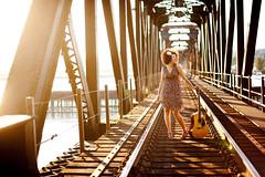 Guitar on the Bridge - Mission, BC - Justine Davis (justinewiththeafro) Tags: fraserriver guitarplayer singersongwriter missionbc missionbridge singingcompetition justinedavis abbyedahl