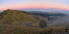 Christchurch Gondola (DanielBartolo) Tags: morning newzealand mountain sunrise stars landscape rocks foggy hills gondola goldenhour porthills chrischurch purenewzealand danielbartolo