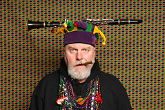 Portrait with Clarinet and Cigar (Studio d'Xavier) Tags: c 365 crayonbox mardigras clarinet alphabetty 34366 werehere february32016 cisforclarinetandcigar