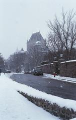 Chateau (nroclaniffirg) Tags: newyears quebeccity kodak400 fall2015 winter2016