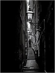 Mrten Trotzigs grnd (Per sterlund) Tags: city bw monochrome stairs mono alley noiretblanc sweden stockholm schweden gamlastan oldtown bnw suecia sude 2016 grnd photographiederue mrtentrotzigsgrnd gatufoto fotografadecalle fotografiadistrada strasenfotografie