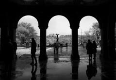 Central Park Snow (Rebecca Schear) Tags: nyc newyorkcity winter blackandwhite snow canon centralpark bethesdafountain bethesdaterrace emmastebbins centralparkmall canon6d