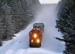 Charging West (Missabe Road) Tags: snow bnsf 1541 brainerdsub brainerdlocal