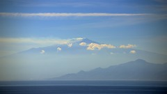 Mt. Etna (Herculeus.) Tags: sky italy cloud mountains water clouds landscape outdoor oct sicily volcanoes peaks mtetna 5photosaday straitofmessina