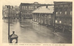 The Flood of November 4th, 1927 - Montpelier, Vermont (The Cardboard America Archives) Tags: vintage vermont flood postcard montpelier 1927 cityinruins