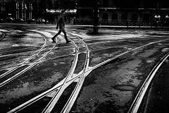 Day 311/365 ... Tram tracks (Bo Hvidt) Tags: bw monochrome blackwhite tracks tram nik 365 silverefex bohvidt nikcollection x100t fujifilmx100t