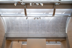 Gallery ceiling (See.jay) Tags: light usa detail art museum architecture modern stairs america concrete louis gallery texas arch post interior steps naturallight symmetry architect kahn handrail vault circulation travertine modernarchitecture fortworth aluminium louiskahn tracklighting vaultedceilings tectonics diffusedlight dappledlight cycloid lightdiffuser concretecolumn gallerydisplay gallerylighting servedspace partitiondisplay posttensionedconcretebeam constructionlogic