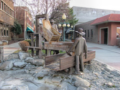 The Prospectors Sculpture and Fountain. (dckellyphoto) Tags: sculpture monument fountain statue rockymountains helena americanwest helenamontana 2011 mountainwest prospectorssculptureandfountain